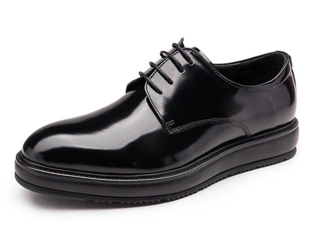 Men Oxford Business Suits Shoes Men Shoes British Patent Leather Boutique Thick Leather Shoes ( Color : Black , Size : 42 )