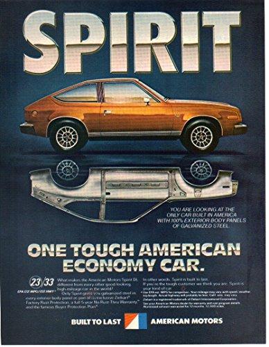 Vintage Print ad: 1980-1981 AMC American Motors Spirit DL,