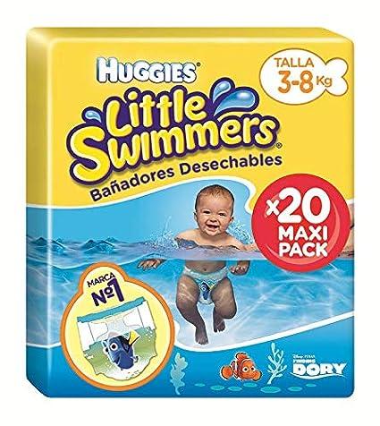 fbf0c2827419 Huggies Little Swimmers Pañal Bañador Desechable Talla 2-3 (3-8 Kg). Haz  clic para ...