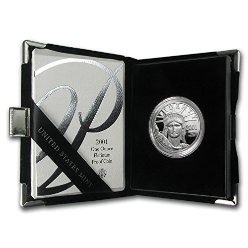 (2001 W 1 oz Proof Platinum American Eagle (w/Box & COA) Piece About Uncirculated)