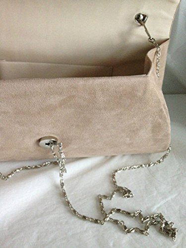 Bag Flap Handbags 320 LeahWard Suede Clutch Nude Wedding Women's Evening CExXqwWv