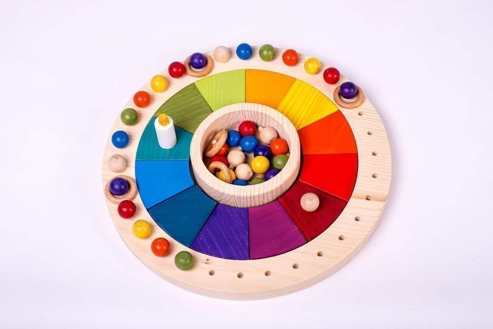 1299 In Diameter Montessori Wooden Toy Calendar For Children