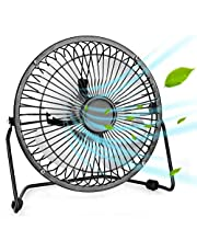 Portable USB Fan - Personal Desk Fan with 1.4m USB Cable, 4/6 Inch Mini Fan USB Fans for Desk, Quiet and Powerful, Perfect Office Fan USB Personal Fan for Home & Office (6 inch (16cm))