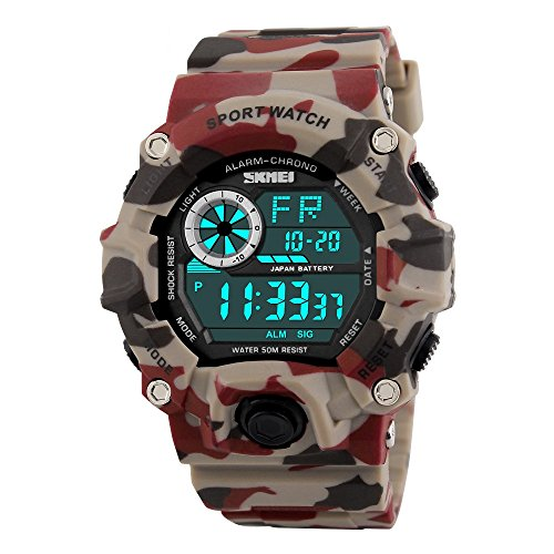 Skmei Multifunction Military Red Digital Sports Watch for Men's   Boys.