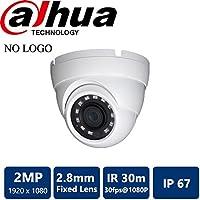 Dahua [Amazing DEAL] HDW1200 2MP IR HDCVI 1080P Eyeball Dome , 30fps@ 1080P, 2.8mm Lens, IR30M, Smart IR, IP67, DC12V (NO LOGO Original Housing Local Support)