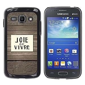 """Pulsar Snap-on Series Teléfono Carcasa Funda Case Caso para Samsung Galaxy Ace 3 , Joie De Vivre cotización French Decir texto"""""""