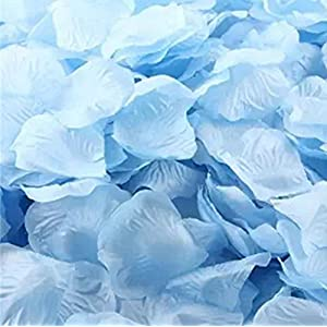 Hosaire 1000 Silk Rose Petal Flower Confetti Engagement Celebration Wedding Decoration Multicolor Light Blue 21