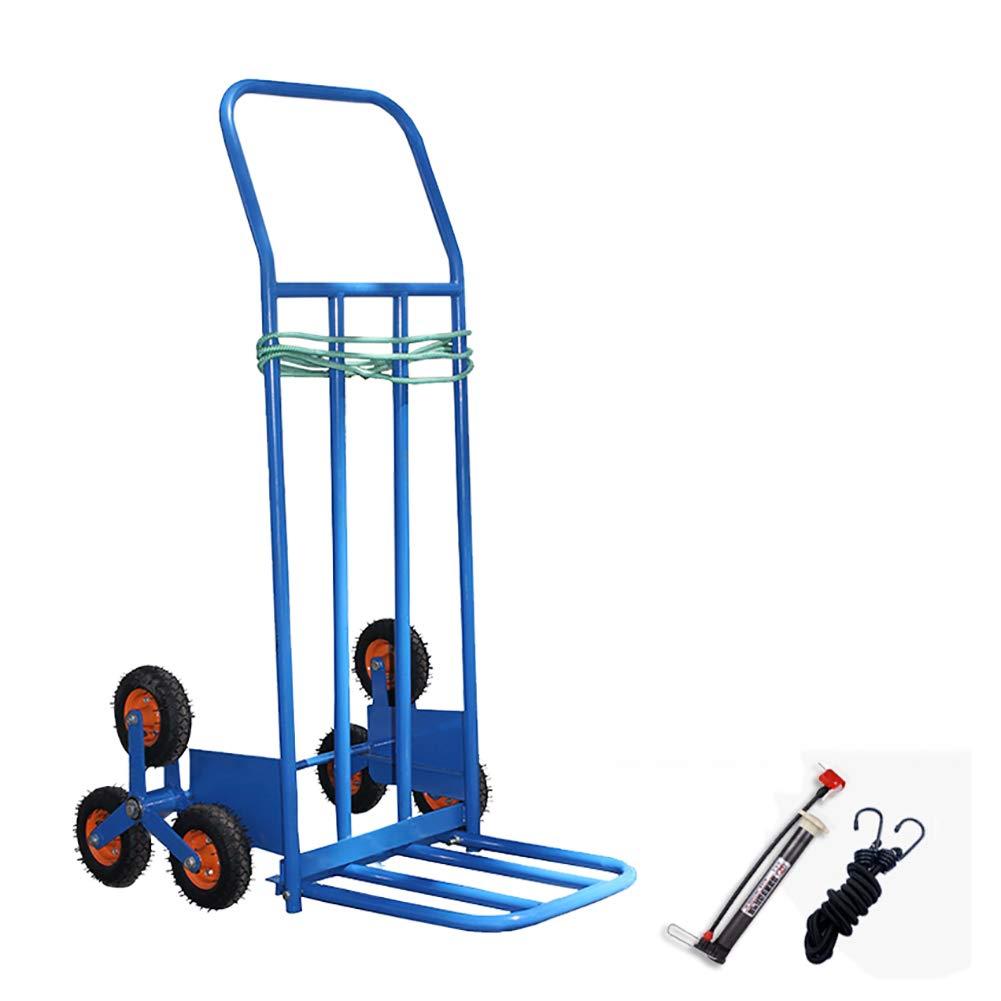登山階段トロリー6輪階段車上下階段トロリートライアングルホイールトラック、高さ125cm、スタイルオプション (色 : Inflatable wheel) B07HVWXMJ3 Inflatable wheel