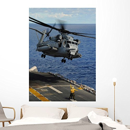 Ch-53e Sea Stallion Helicopter Wall Mural by Wallmonkeys Peel and Stick Graphic (60 in H x 43 in W) WM165719