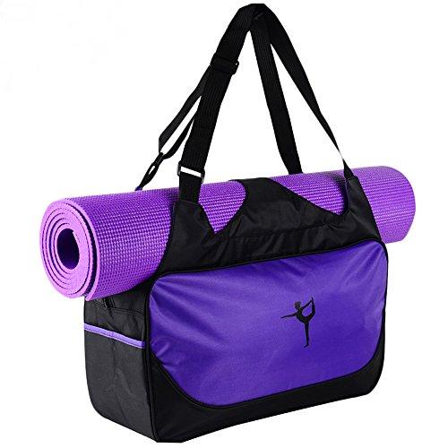 Faswin Yoga Mat Tote Bags (Purple)