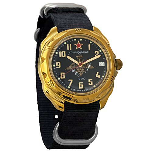 Vostok Komandirskie 2414 219632NB Russian Military Mechanical (Russian Wrist Mechanical Watches)