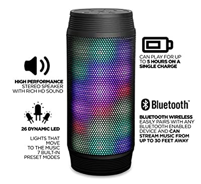 RevJams DISCOTEK Wireless Bluetooth Speaker with Dynamic LED Lights and HD Sound