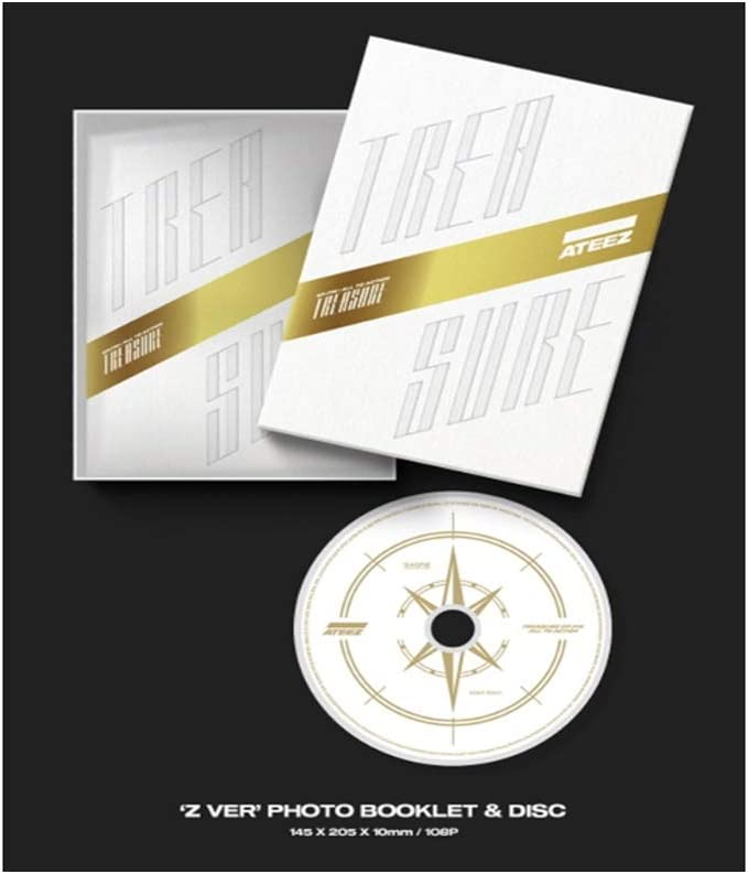 ATEEZ Treasure EP white CD + póster doblado (xam)