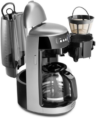 Kitchenaid Architect Series 14 Cup Glass Carafe Coffee Maker - Cocoa Silver (Kitchenaid 14 Cup Coffee Maker)