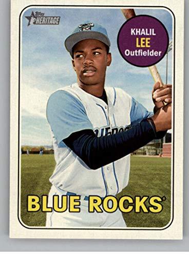 2018 Topps Heritage Minor League Baseball #122 Khalil Lee Wilmington Blue Rocks Official MILB Trading Card