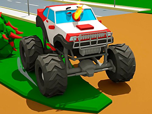 Curious Monster Truck and Fire Truck