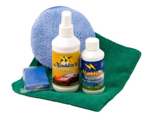 Tantacoat Double Shield 8oz.kit - Quick & Easy Liquid Glass Car Paint Protection. 3.5 oz. Auto Detailing Clay Bar, Natural Car Shampoo + Detailing Microfiber Towel + Applicator ()
