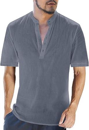 Wilngo Men Casual Raglan Sleeve Lapel Patchwork Two-Tone Long Sleeve Polo Shirts