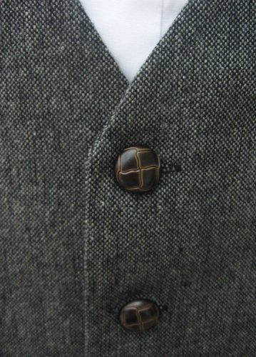Classic Wollband Donegal-Tweed-Weste, grau