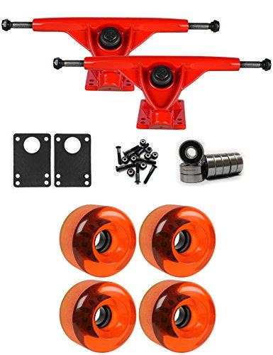 クリップ蝶リード将来のRKPレッドLongboard Trucksホイールパッケージ70 mm x 46 mm 83 a 151 Cオレンジクリア