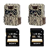 (2) Browning STRIKE FORCE BTC5HD Sub Micro Trail Camera with Sony 16GB SDHC C...
