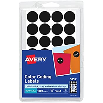amazon com avery 05459 handwrite only removable round color coding
