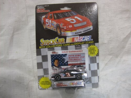 Nascar Winston Cup Champions (NASCAR #3 Dale Earnhardt, Sr. Five Time Winston Cup Champion Goodwrench Racing Team Stock Car With Driver's Collectors Card And Display Stand. Racing Champions Black Background Red Series 51 Car)