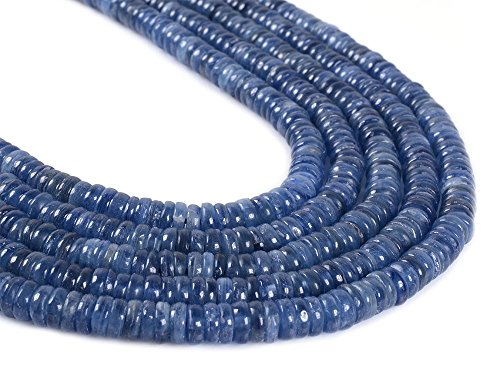 Kyanite Natural (Natural Gemstone Kyanite Heishi Rondelle Loose Beads 16