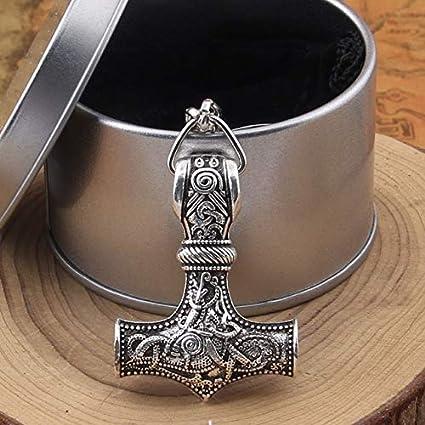 1Pcs Thor Martillo Mjolnir Colgante Llavero Viking ...