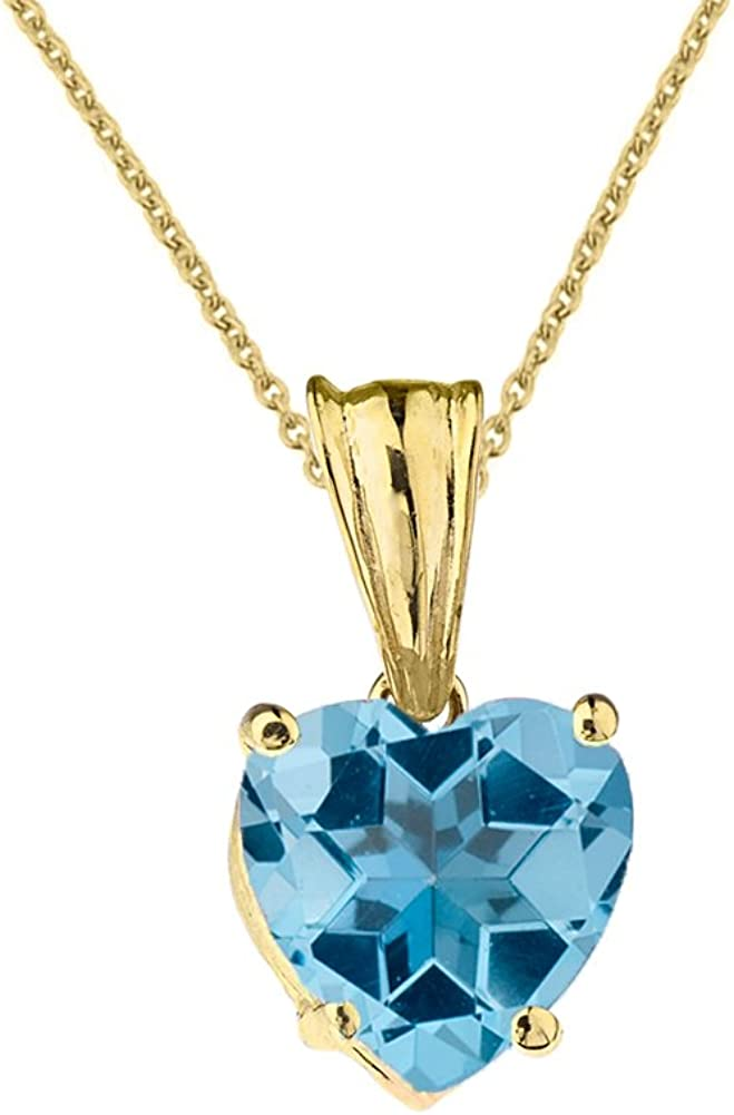Solid 14K Yellow Gold Dainty Cubic Zirconia Gemstones Angel Charm Pendant Figaro Chain Necklace