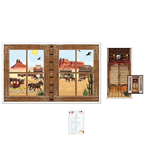 (Western Window Insta-Scene and Saloon Door Cover (with Party Planning Checklist))
