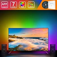 DreamColor USB LED Strip Lights, MINGER 6.56ft Waterproof Music RGB Rope Light Built-in MIC with APP, Flexible Backlight Bias Lighting with Digital IC for HDTV, PC, Monitors, Game, Soundbar