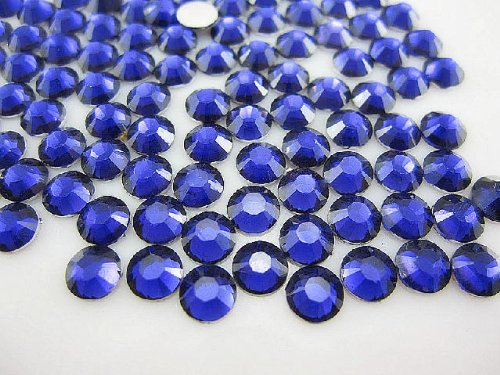 Quality Rhinestone - 1440pc Flat Back High Quality Rhinestones Round 14 Cut 3mm (10ss) -- Navy Blue