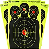 BEEWARE 12x18 Reactive Fluorescent Silhouette Splatter Targets, 50 Pack
