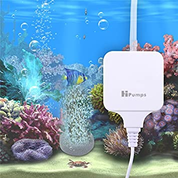 VIFLYKOO Difusor Porosa Aire Oxigenador Bomba Acuarios Ultra Silencioso Mini Bomba de Respiración de Oxígeno de