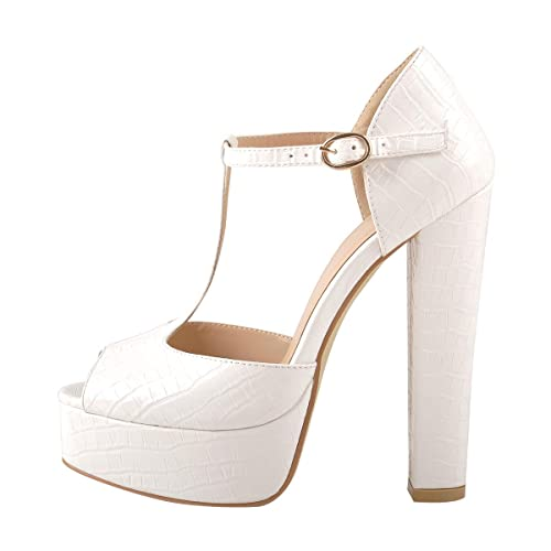 Women's Ankle Strap High Heel Sandals Squre Toe Party Dress Shoes