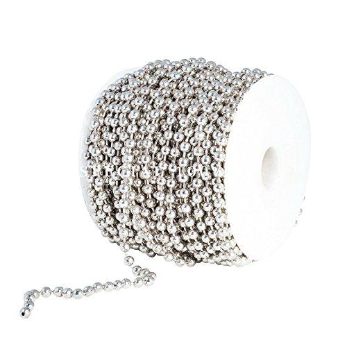 Ball Chain Spool 5mm Bead Diameter, Large Nickel