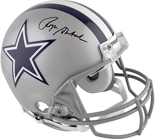 Roger Staubach Dallas Cowboys Autographed Pro-Line Riddell Authentic Helmet - Fanatics Authentic Certified ()