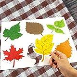 Leaf Cutout 36PCS Colorful Leaves for Fall Celebrattion Autumn Decorative Thanksgiving Leaf Accents