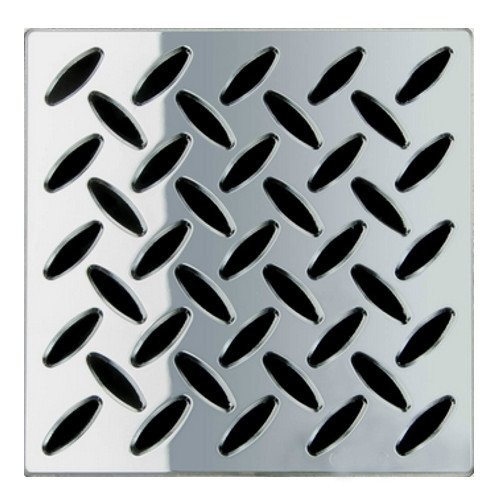 """Ebbe E4815-BN 4"""" Unique Grate, Frames, Brushed Nickel well-wreapped"""