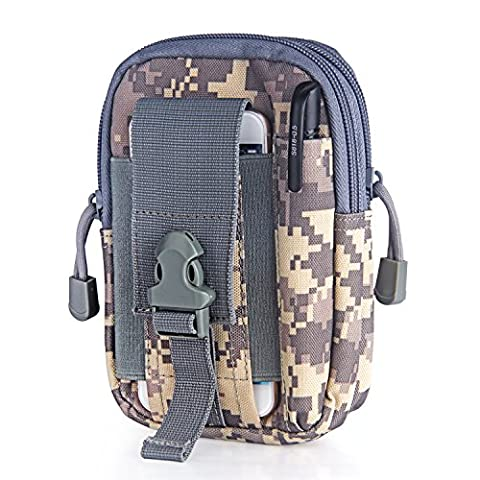 Tagvo Molle EDC Utility Gadget Pouch Multi-purpose, Water-resistant Anti-scratch 1000D Nylon Made Compact Tactical Pouch (Cellulare Confezione Telefono)