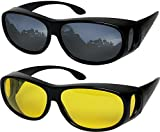 Fit Over Sunglasses Polarized Lens Wear Over Prescription Eyeglasses 100% UV Protection for Men and Women