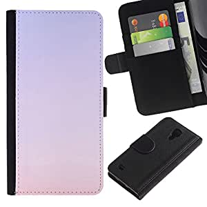 A-type (Purple Sky Sunset Red Nature Summer) Colorida Impresión Funda Cuero Monedero Caja Bolsa Cubierta Caja Piel Card Slots Para Samsung Galaxy S4 IV I9500