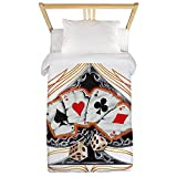 Twin Duvet Cover Four of a Kind Poker Spade