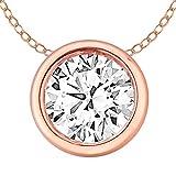 Best Diamond Necklaces - EternalDia 14k Gold Round Diamond Solitaire Pendant Necklace Review