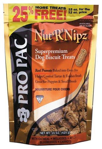 PRO PAC Nut'R'Nipz Dog Treats, 15-Ounce Bag, My Pet Supplies