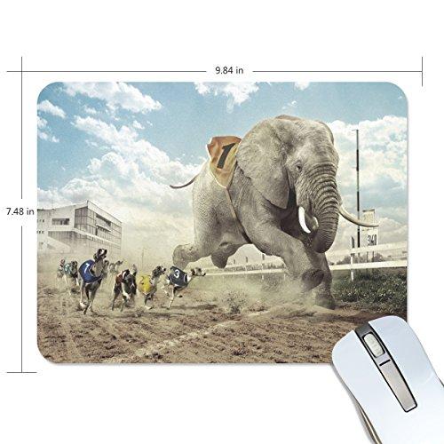 Mabel D. Silva Race Elephan Mouse Pad Gaming Mouse Pad Thicker Mouse Pad Custom Mouse Pads Mouse Pads Mats Natural Rubber Foam Thermal Transfer Process (20mm24mm0.2mm, elephant race) (Thermal Race)