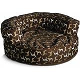 Crypton William Wegman Round Rotator Bolster Pet Bed, Large, Hot Chocolate