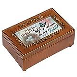 Greatest Grandma Rich Walnut Finish Petite Jewelry Music Box - Plays Amazing Grace