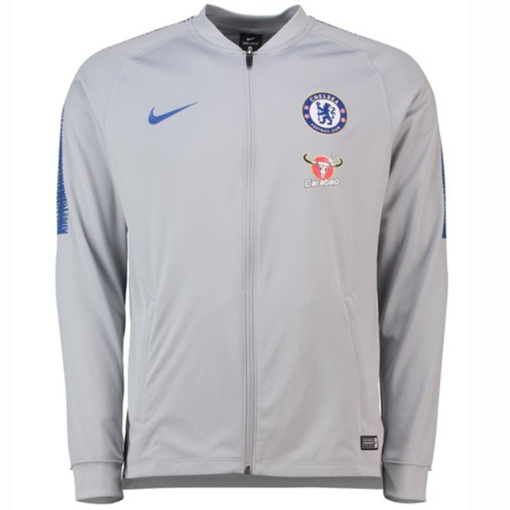 Nike 2018-2019 Chelsea Squad Track Jacket (Wolf Grau)